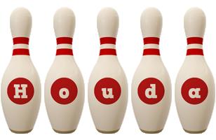 Houda bowling-pin logo