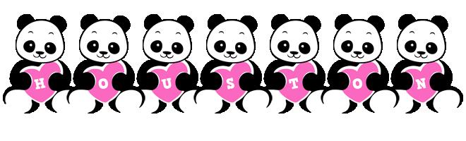 Houston love-panda logo