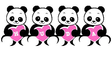 Huda love-panda logo