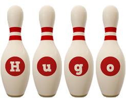 Hugo bowling-pin logo