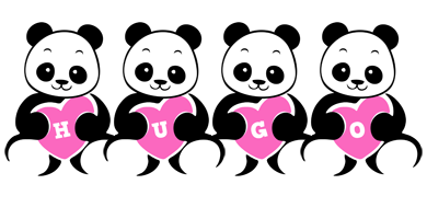 Hugo love-panda logo