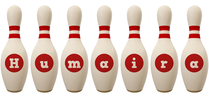 Humaira bowling-pin logo