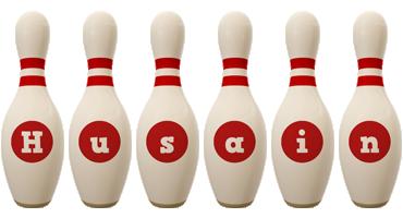 Husain bowling-pin logo