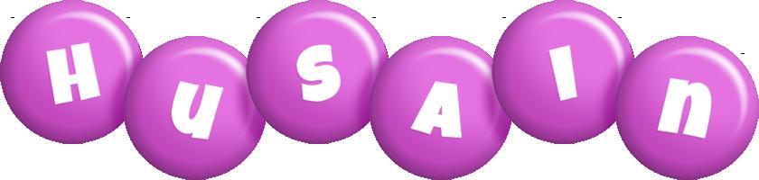 Husain candy-purple logo