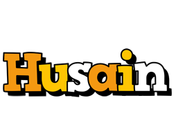 Husain cartoon logo