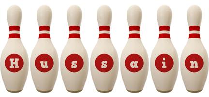 Hussain bowling-pin logo