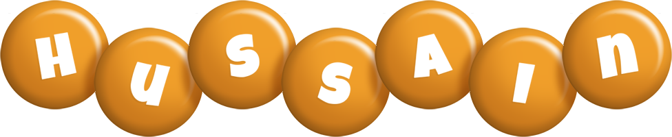 Hussain candy-orange logo