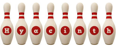 Hyacinth bowling-pin logo