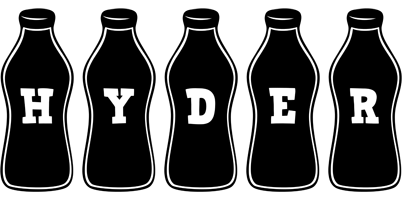 Hyder bottle logo
