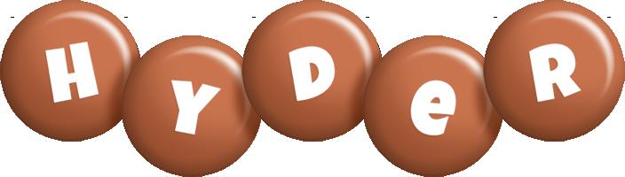 Hyder candy-brown logo