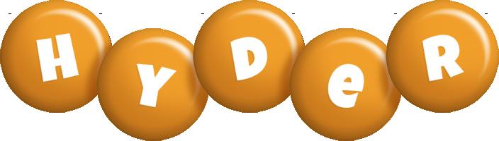 Hyder candy-orange logo