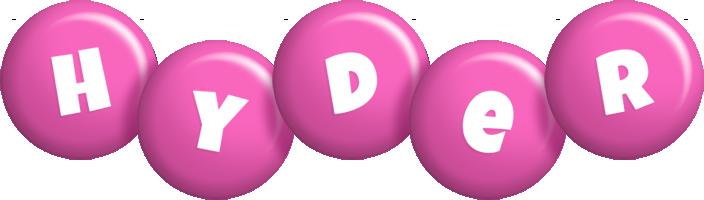 Hyder candy-pink logo