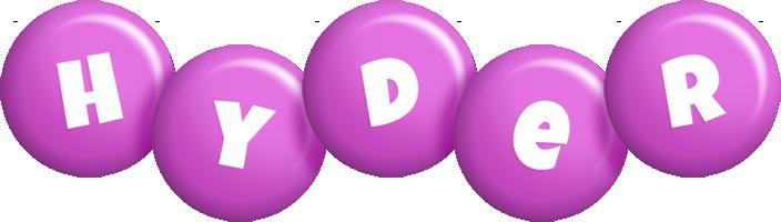 Hyder candy-purple logo