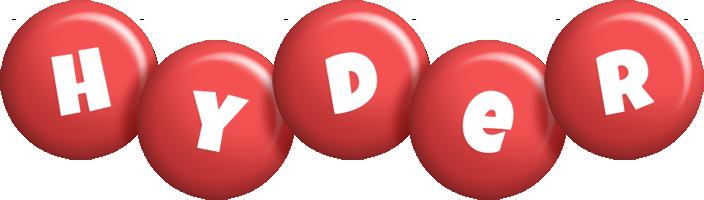 Hyder candy-red logo