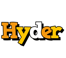 Hyder cartoon logo