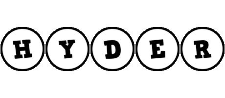 Hyder handy logo