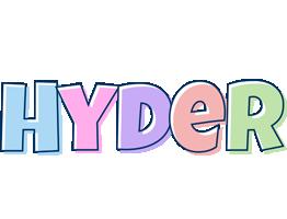 Hyder pastel logo