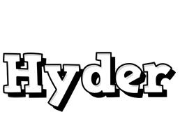 Hyder snowing logo