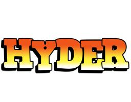 Hyder sunset logo