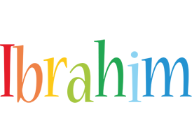 Ibrahim birthday logo