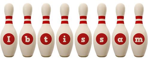 Ibtissam bowling-pin logo
