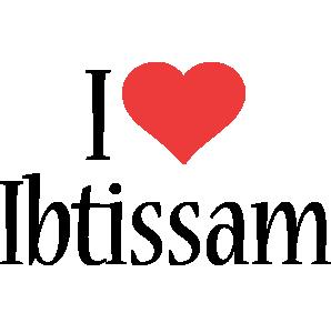 Ibtissam i-love logo