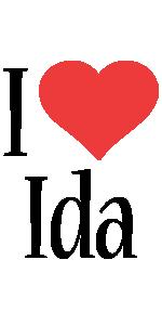 Ida i-love logo