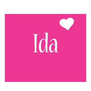 Ida love-heart logo