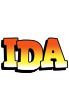 Ida sunset logo