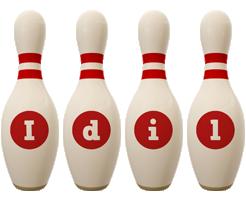 Idil bowling-pin logo