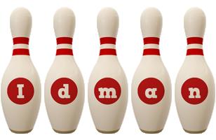 Idman bowling-pin logo