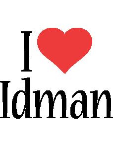Idman i-love logo