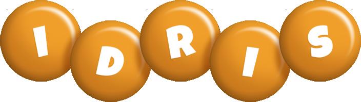 Idris candy-orange logo