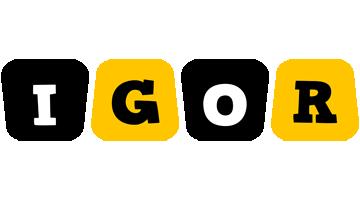 Igor boots logo