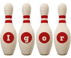 Igor bowling-pin logo