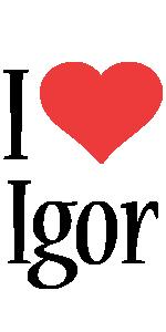 Igor i-love logo