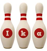 Ika bowling-pin logo