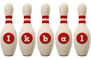 Ikbal bowling-pin logo