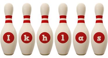 Ikhlas bowling-pin logo