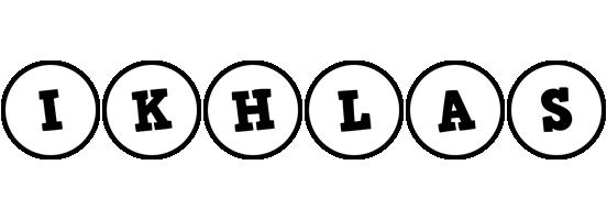 Ikhlas handy logo