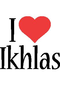 Ikhlas i-love logo