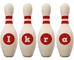 Ikra bowling-pin logo