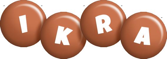 Ikra candy-brown logo