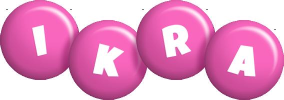 Ikra candy-pink logo