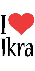 Ikra i-love logo