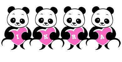 Ikra love-panda logo