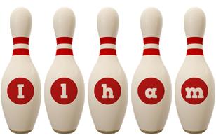 Ilham bowling-pin logo