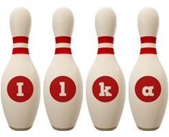 Ilka bowling-pin logo