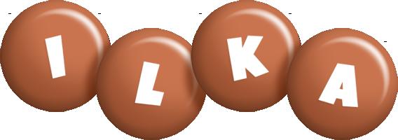 Ilka candy-brown logo