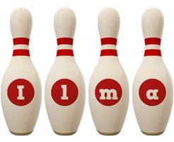 Ilma bowling-pin logo
